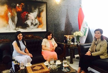 the meeting of Mrs pascale with the iraqi ambassador in jordan at 13-5-2017
