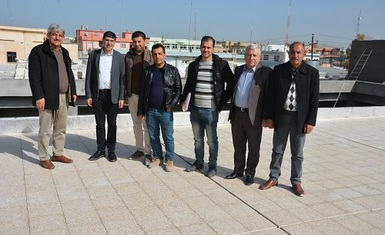 A delegation of the French Parliament in the French region Auvergne-Rhône  accompanied by Mr. Yohanna Yousef Tawaya, inspected the construction works of Qaraqosh School- the first under construction in Hamdaniya.