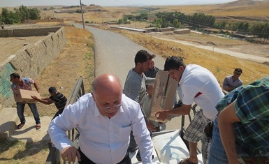 HHRO continues to deliver aid to IDPs fleeing the violence in Mosul, Tall Afar, etc.