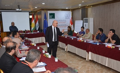 Hammurabi Human Rights Organization in cooperation with Minority Rights Group International held a training workshop on Thursday 12/May/2016