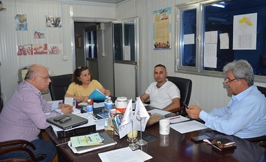 Mrs. Pascale Warda, Chairwoman of Hammurabi Human Rights Organization, presides over the third meeting of the Board of Directors of the Organization of the year 2018 in Baghdad