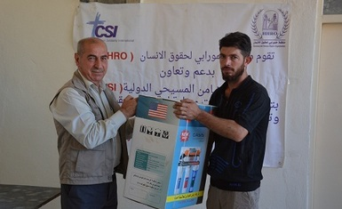 A new humanitarian relief program for Hammurabi Human Rights Organization included the distribution of 705 household systems for water purification and desalination with the support of CSI organization.