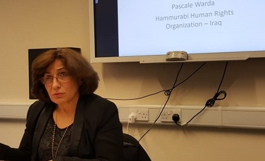 In a lecture at the University of Cambridge, Mrs. Pascale Warda: Iraqi minorities are threatened by extinction as a result of armed violence, terrorist groups and containment policy