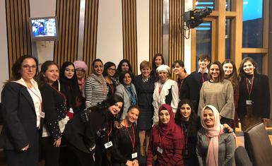 Mrs. Pascale Warda participated in a training workshop in Edinburgh, Scotland, on the 1325 resolution and the inclusion of women in the peace and security process and in making peace and security and related decisions.