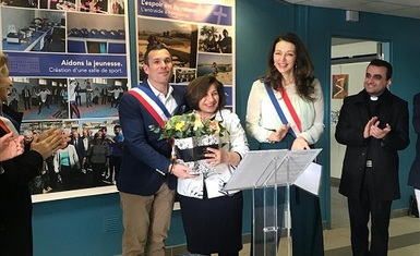 Mrs. Pascale Warda received the honor of Mrs. Valerie Boyer, member of the Foreign Affairs Committee of the French National       Council, representative of the eleventh and twelfth districts of the French city of Marseille and Mr. Julian Raquier, Director of the French municipality of Marseille