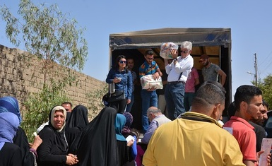 Hammurabi Human Right Organization's relief program with the support of The Christian Solidarity International (CSI) includes liberated Kaka'i villages