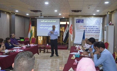 The second training workshop for teaching and educational staff implemented by Hammurabi Human Rights Organization, enter its second day focusing on the basics of training and carrying out practical exercises.