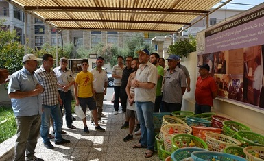 A humanitarian team of the Hammurabi Human Rights Organization distributes 60 hygiene baskets to displaced Syrian families in Erbil.
