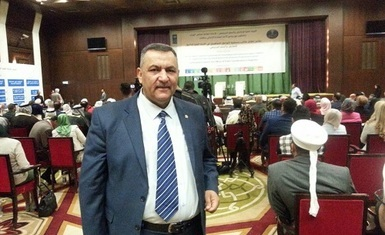Member of the General Board of the Hammurabi Human Rights Organization Mr. Khaled Al-Bayati participates in the Proceedings of establishing an Office of Coexistence and Community Peace in Baghdad.