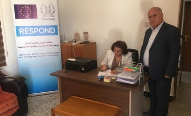 Management of the (Respond) project at Hammurabi Human Rights Organization visits the field center for legal, psychological and social assistance in Baghdida