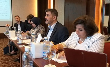 Mrs. Pascale Warda participated in the consultation meeting in Beirut held by the Inpunity Watch Organization and in cooperation with the Iraqi Al-Amal Association.