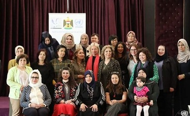 Mrs. Pascale Warda participated in a training workshop on the field operational mechanisms of the UN Women's Consultative Group in support of the UNAMI mission