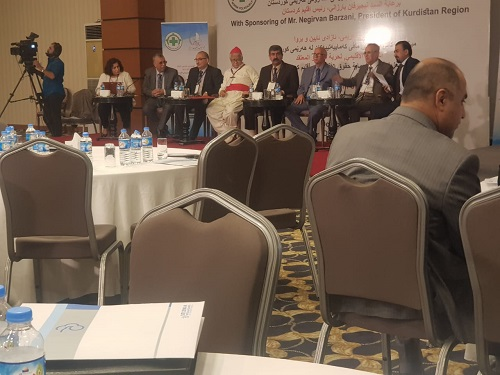 pascale warda participate in the conference for Minorities rights at 27-10-2019 in Erbil